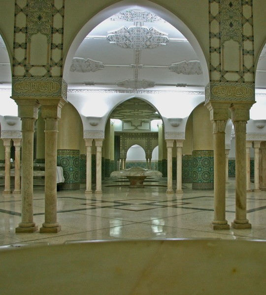 Inside the Mosque of Hassan II