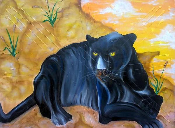 Panther Upon A Rock