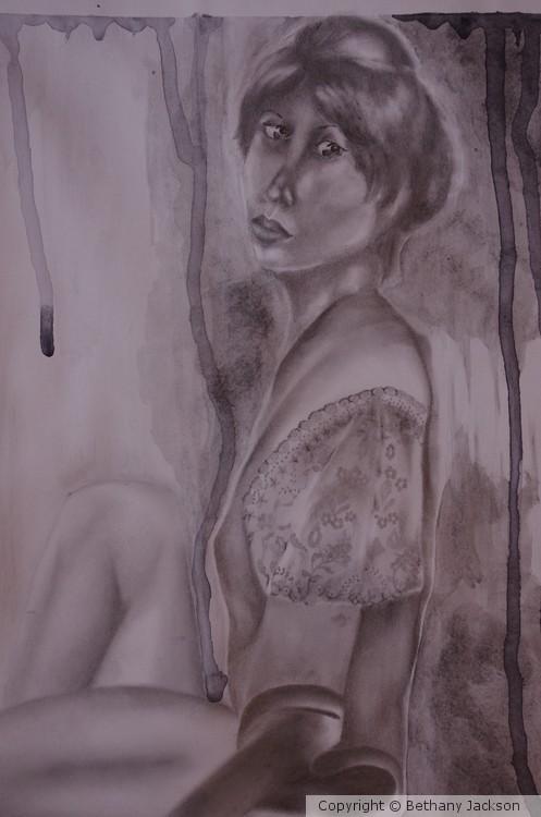 Self-Portrait in Robe