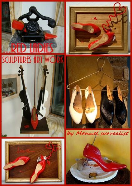 Art Work Sculptures RED LADIES (2) NEW VERSION
