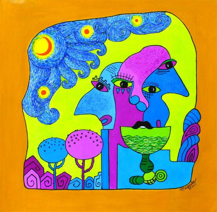 SOLD-Sunny acrylic original