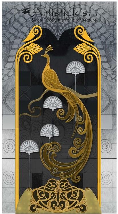 1 Peacock Mural