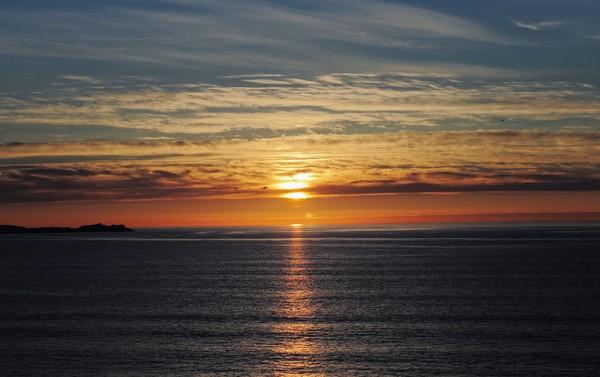 Sunset 2.  Cornwall UK.