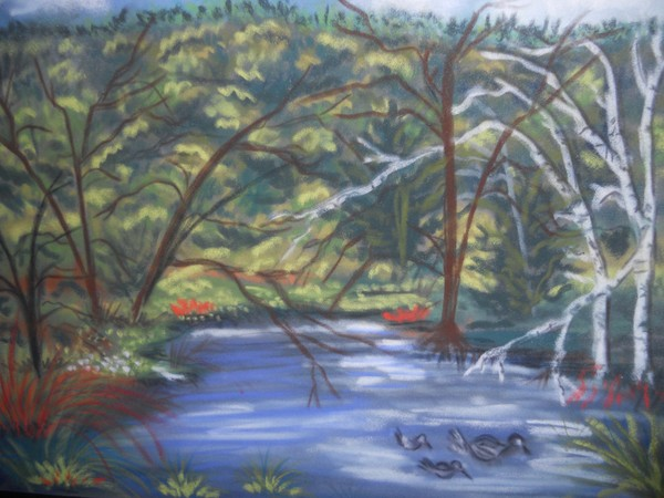 plein air done on white mountains artists weekend