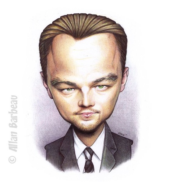 Léonardo DiCaprio - first try Caricature