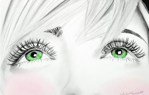 Startling Green Eyes