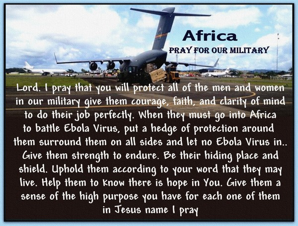 PRAY FOR OUR MILITARY IN AFRICA...