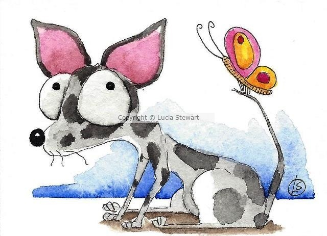 Black chihuahua with butterfly