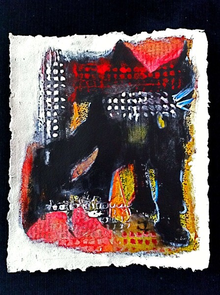 Black Cat On Red Roof (Donation)
