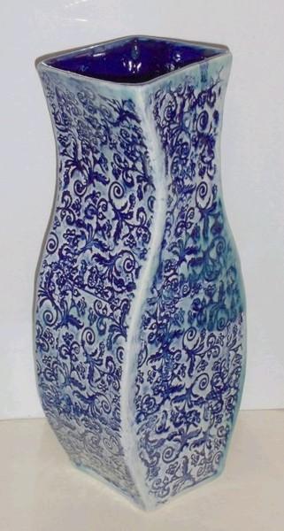 Celadon Elegance over Cobalt