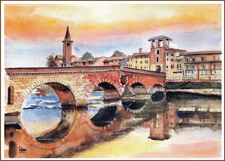 Bridge in Verona (Italy)