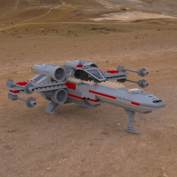 LEGO X-Wing on the Ground