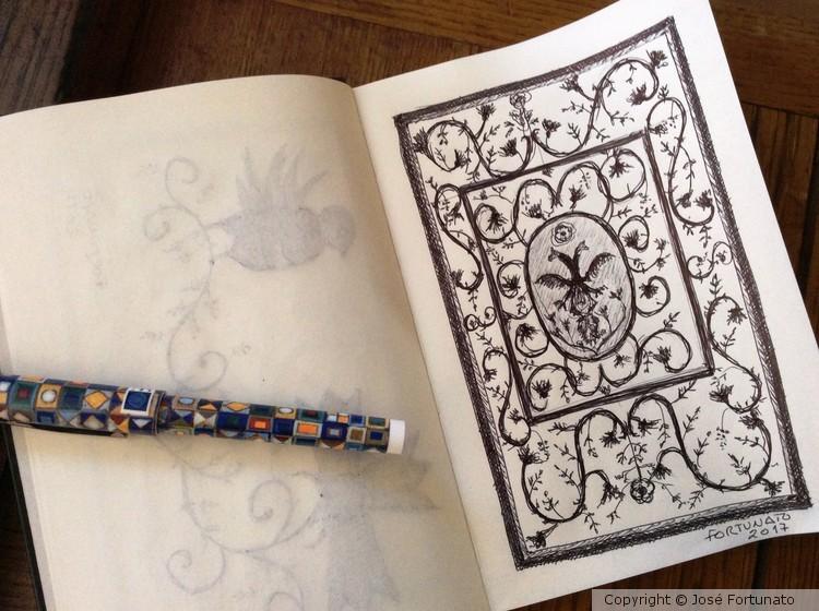 Sketch de colchas de Castelo Branco