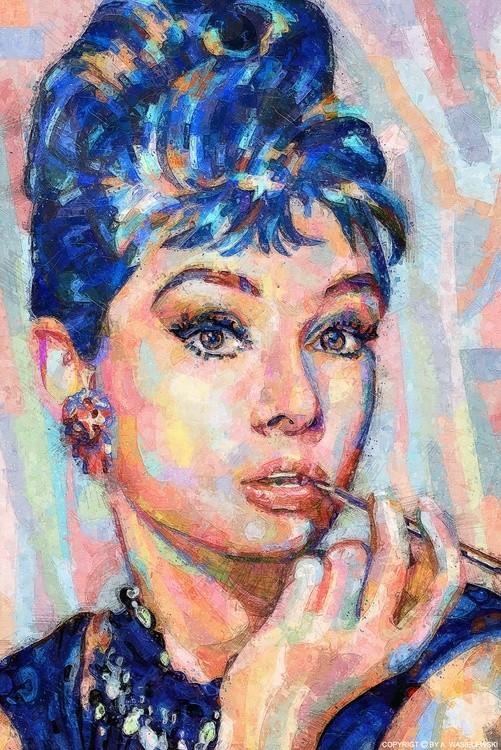 woman portrait audrey hapburn-01-mixedmedia