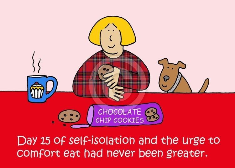 Self-isolation Comfort Eating Cartoon