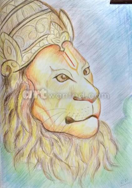Narasimha lion god
