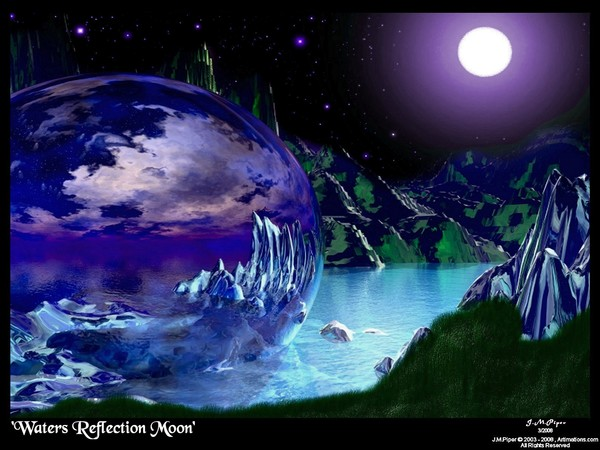 Waters Reflection Moon