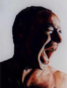 expressive man portrait painting male portraits paintings oil on canvas artist painter raphael perez