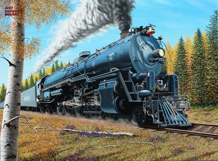 Santa Fe Locomotive #3751