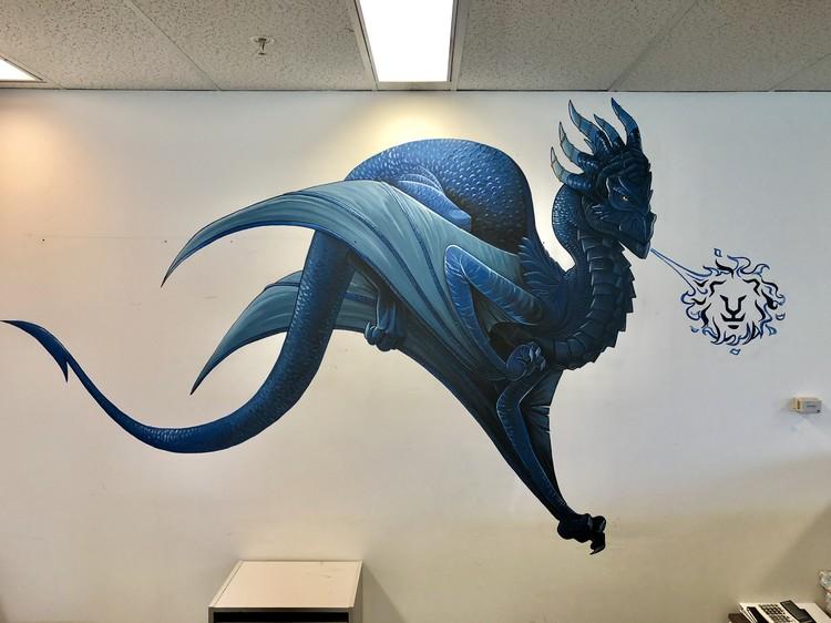Blue Dragon Mural