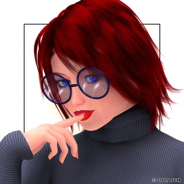 Blue Sweater Portrait