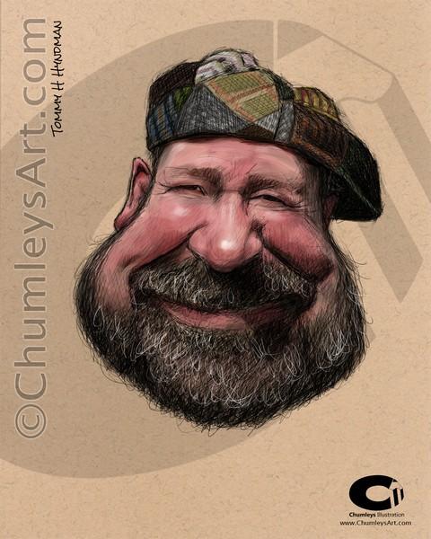 Tommy H Hyndman Caricature