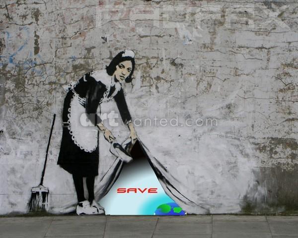 Banksy plus graffitti