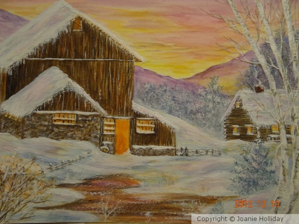 EARLY WINTER MORNING- WATERCOLOR