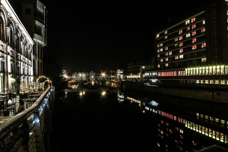 York River Ouse at Night