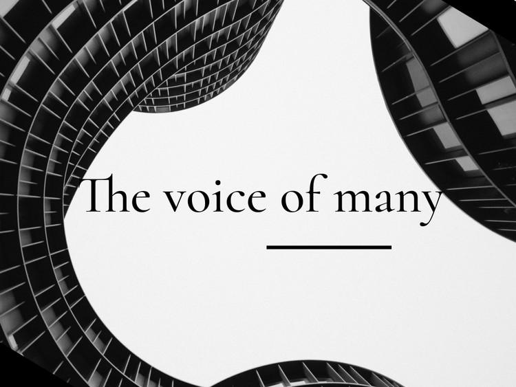 many voice