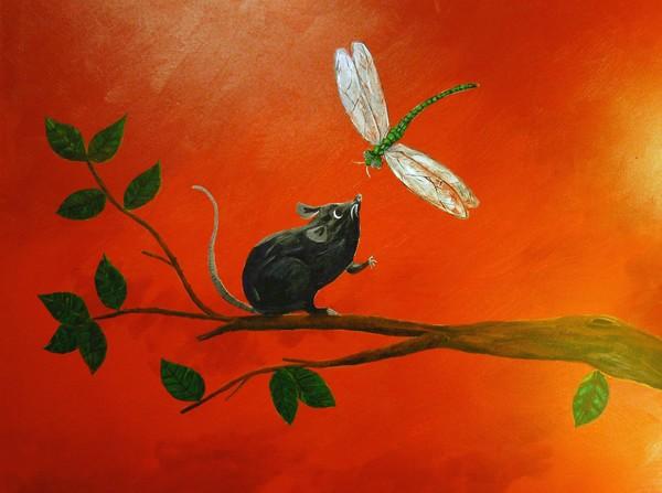 Dragon Fly Meets Rat
