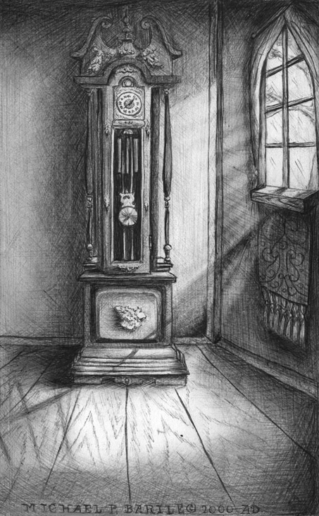 Study of a Grandfather Clock