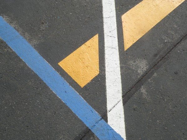 Intersections in Blue Yellow white