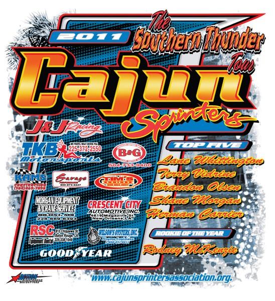 2011 cajun sprinters back