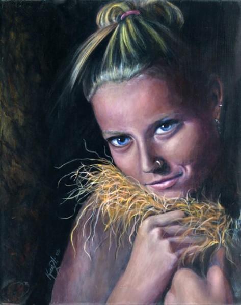 Heather (acrylic on wood)