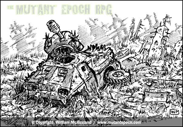 The-Mutant-Epoch RPG-art-wrecked-APC-rubble-scene-spot-art-web