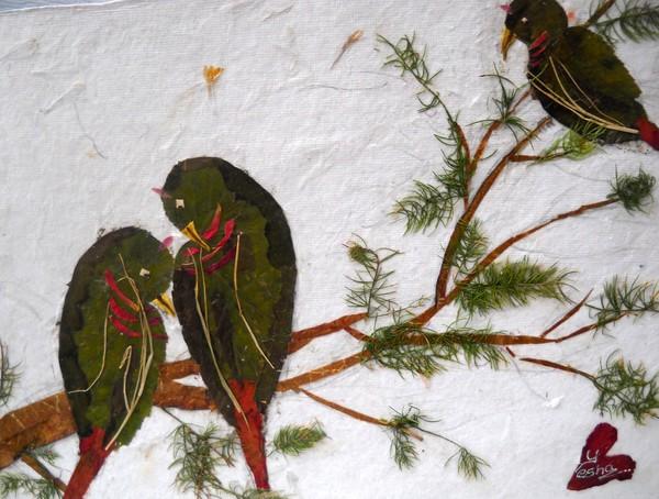 Birds in Love Wishing every one Joyous 2016