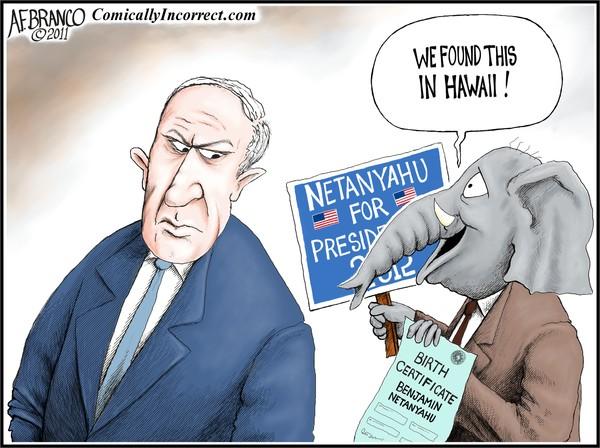 Run Bibi Run, Netanyahu (Cartoon)