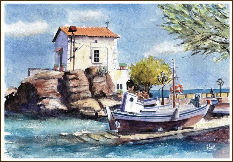 Fisherman's chapel on the rocks