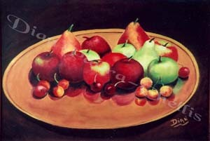 Fruit & Copper Plate