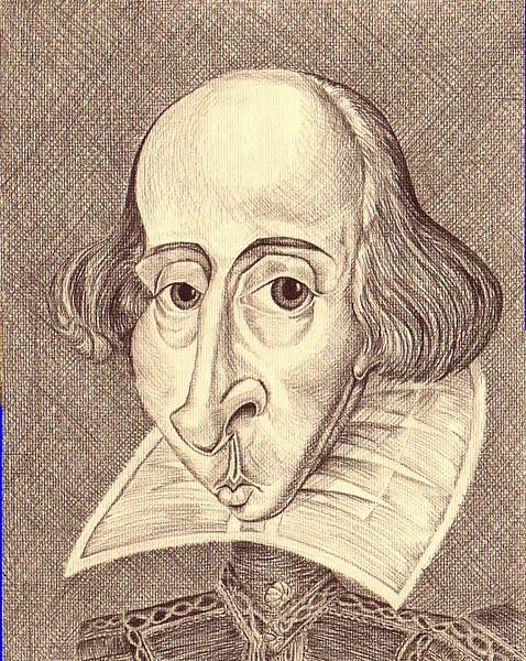 William Shakespeare Caricature