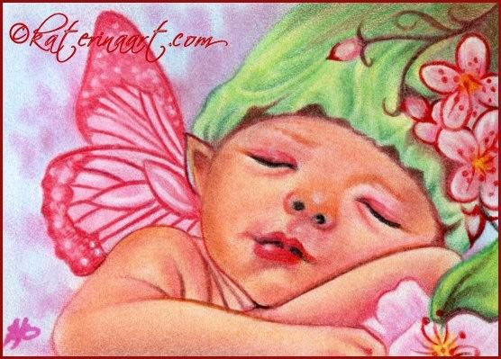 Fairy Cherry Blossom Baby
