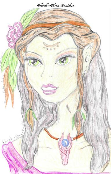 Florah-Elven Druidess
