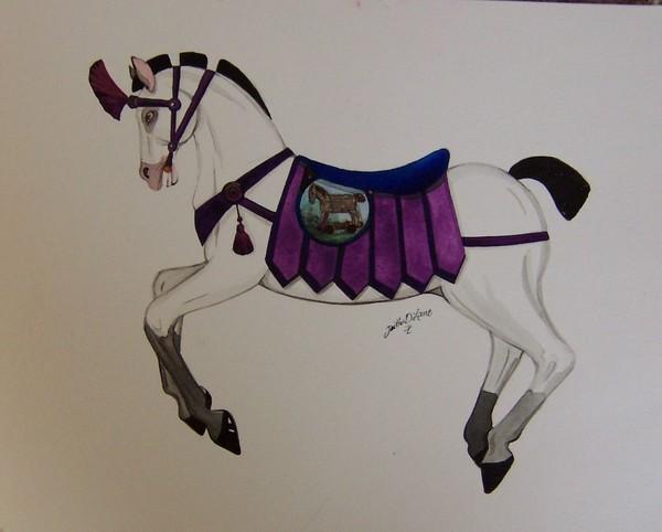 Trojan Carousel Horse Study