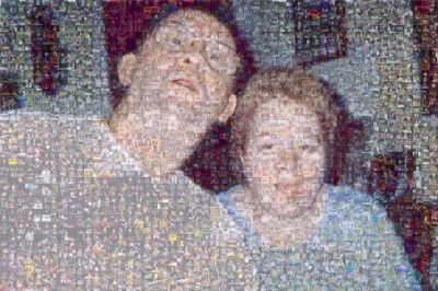 Photo Mosaic of My Mother  and Father (example)
