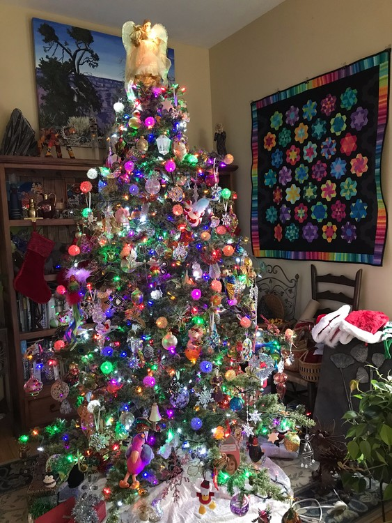 Christmas Tree & Tracy's Quilt