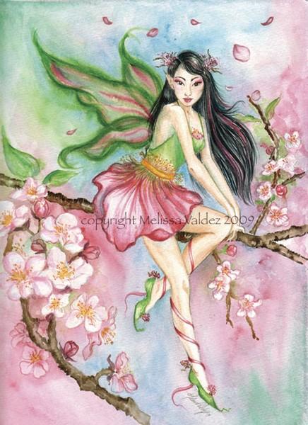Sakura, The Cherry Blossum Faery