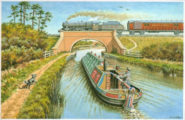 Canal Barge & Train