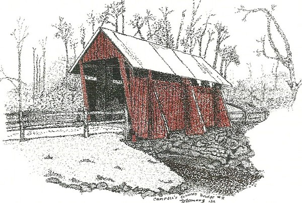 Campbell's Covered Bridge #2, Pointillism
