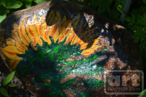 Flower Rock Painting